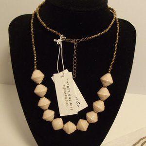"31 Bits Necklace ""Romantic"" Cream Beads"